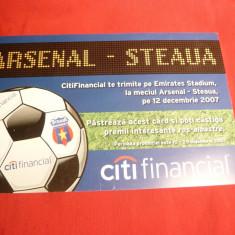 Card Citi Financial - Meci Fotbal Arsenal-Steaua 2007