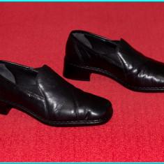 DE FIRMA _ Pantofi / botine dama, piele, calitate extra, RIEKER _ femei | nr. 36 - Pantof dama Rieker, Culoare: Negru, Piele naturala