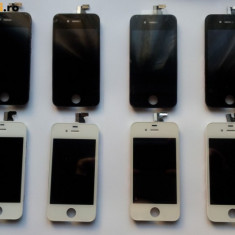 Pachet LCD ECRAN TOUCHSCREEN + Capac Spate Alb si Negru iPhone 4S