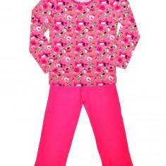Pijamale originale englezesti, culoare fucsia marimea 5-6 ani, Marime: Alta, Culoare: Multicolor