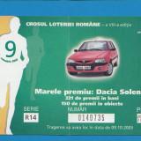 Bilet loto Crosul loteriei 2