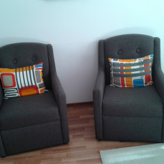 Canapea extensibila 2 locuri cu 2 fotolii, tip SORTEM - Set mobila living