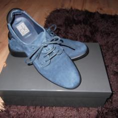 Pantofi Calvin Klein piele intoarsa dama - Pantof dama Calvin Klein, Marime: 36, Bleumarin