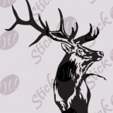 Cerb_Tatuaj Perete_Sticker Diverse_DIV-228-Dimensiune: 35 cm. X 29.1 cm. - Orice culoare, Orice dimensiune
