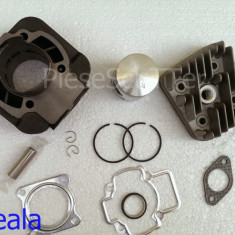 Set cilindri Moto - Kit Cilindru / Set motor + CHIULOASA Scuter Piaggio - Piagio Fly / Zip / Free / Liberty / NRG / VESPA ( 80cc racire aer )