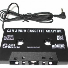 Modulator FM auto - Caseta adaptor audio mp3 player mufa jack 3, 5mm