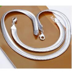 Set bratara + colier din argint 925 + cutie cadou; 21 cm bratara, 51 cm colier - Set bijuterii argint