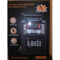 Boxe PC - Sistem audio multifunctional cu microfon si FM KN-781MIC