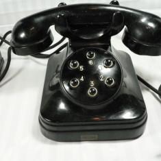 Colectii - TELEFON VECHI - EBONITA NEAGRA - MODEL SPECIAL - 6 BUTOANE