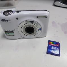 APARAT FOTO NIKON COOLPIX L25/OFER CABLU DE DATE+CARD DE 4 GB/(LM3)