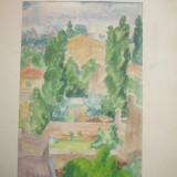 "PICTURA "" ACOPERISURI "" original de G. M. Cantacuzino x UN CADOU IDEAL ! - Pictor roman"