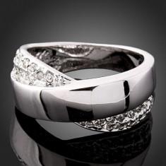 Inel Fashion Arinna Swarovski Crystal Model Foarte Frumos -Marimea 6 - Inel diamant, Carataj aur: Nespecificat, Culoare: Alb