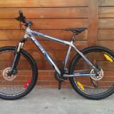 Mountain bike Ideal Prorider 26' - garantie 10 luni, 22 inch, 26 inch, Numar viteze: 24, Gri mat-Albastru, Discuri