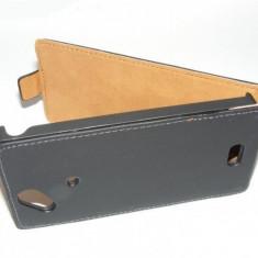 Husa toc Piele Flip / clapeta ecologica Allview P5 Quad - Husa Telefon Allview, Negru