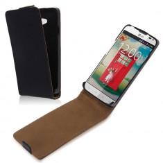 Husa Telefon LG, Negru, Piele, Carcasa - Husa Flip Piele LG Optimus L70 D320/D325/MS323