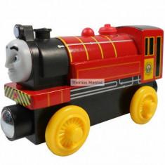 Trenulet de jucarie, Lemn, Unisex - Wooden trenulet Thomas - VICTOR locomotiva din lemn cu magnet - 100% original
