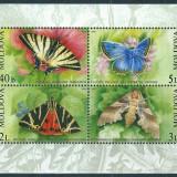 MOLDOVA 2003 - FLUTURI - BLOC NESTAMPILAT - MNH - COTA MICHEL : 12 E