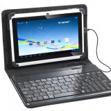 Husa cu tastatura Tracer microUSB SmartFit neagra 7 - 8 inch