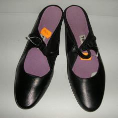 OFERTA! Pantofi/saboti TSUBO originali Noi piele manusa calapod anatomic Sz 37 ! - Pantof dama, Culoare: Negru, Piele naturala