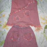Costum din blugi subtire, de vara. 3-4 ani