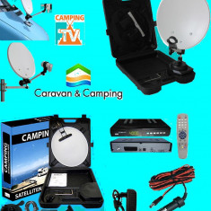 Sistem complet satelit - Antena tv auto pliabila portabila