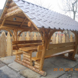 Mobila terasa gradina - FOISOR RUSTIC DIN LEMN MASIV