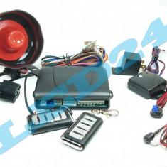 Alarma auto cu 2 telecomenzi, modul inchidere centralizata, sirena