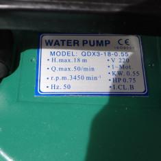 Pompa Submersibila QDX3 adancime maxima 18 m Livrare Gratuita Garantie 12 luni. - Pompa gradina