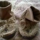Papuci casa copii GAP - Botosi copii, 28.5, Camel