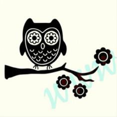 Bufnita_Tatuaje de Perete_Sticker Decorativ_Cod:WALL-699-Dim: 35 cm. x 25.9 cm. - Tapet