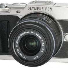 Aparat Foto compact - Aparat foto digital Olympus E-P5 cu obiectiv 14-42mm, argintiu