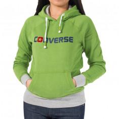 Hanorac femei Converse Basic Raglan Hoody #1000000105346 - Marime: XL - Bluza dama Converse, Culoare: Din imagine