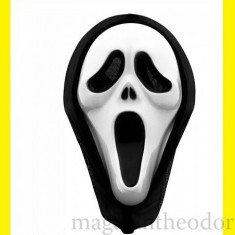 MASCA SCARY MOVIE/ MASCA DARKMAN/ MASCA HALLOWEEN - Masca carnaval, Marime: Marime universala, Culoare: Alb, Albastru