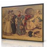 Litografie GERMANIA - DIE ELEGANTE MODE - 1896 (color - 37x30cm)