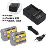 PATONA   Incarcator 4in1 + 2 Acumulatori pt Nikon EN EL3e ENEL3e ENEL3 D70s D200
