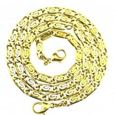Set colectie colier bratara argint, placate aur, vermeile, model vechi grecesc - Colier argint