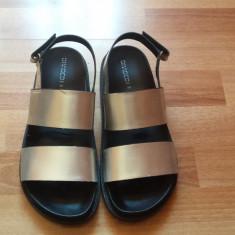 Sandale - Sandale dama H&m, Marime: 39, Culoare: Argintiu, Textil