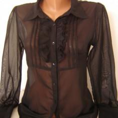 CAMASA neagra stil office casual cu jabou mas M brand VERO MODA - Camasa dama Vero Moda, Maneca lunga, Universala