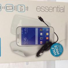 Incarcator telefon Samsung, De masina - Pachet accesorii samsung galaxy ace 4, folie, husa gel, incarcator auto CASEIT