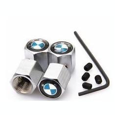 Capace Roti - Set capacele ventil metal logo BMW cu antifurt seria 1 3 5