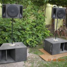 BOXE( INCINTE AUDIO) DE AER LIBER, INCAPERI SI PENTRU FORMATII, DIFERITE PUTERI