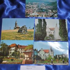 Lot 5 CP CARANSEBES + RESITA. (Carti postale vechi, Vederi Romania), Circulata, Fotografie, Romania de la 1950