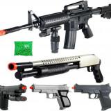SUPER SET 5 ARME AIRSOFT 6mm +2000 BILE BONUS, DISTRACTIE MAXIMA, TINTE LASER. - Arma Airsoft