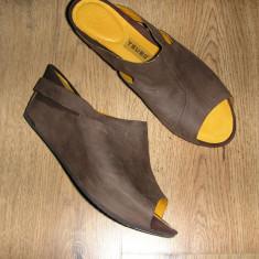 Sandale dama - SUPER PRET! Superbi saboti talpa ortopedica TSUBO piele manusa integral sz 37!