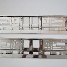 Set suporti numar cromat suport crom - Suport numar Auto