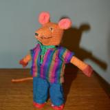 Jucarie mascota soarece /soricel de panza, colorat, 16cm, Handmade; bumbac 100%; - Jucarii plus