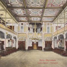HERCULANE, BAILE-HERCULANE, CASINO-SALON - Carte Postala Banat dupa 1918, Necirculata, Printata