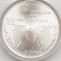 Canada 5 Dolari 1976 - Boxing, Argint 24.3g/925, KM-108 UNC !!!, America de Nord, An: 1976
