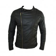 Geaca barbati Zara, Piele - Geaca Zara Man David Beckham SlimFit Imblanita Cod Produs 9113