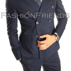 Costum tip ZARA - sacou + pantaloni - costum barbati casual office - 5003, Culoare: Din imagine